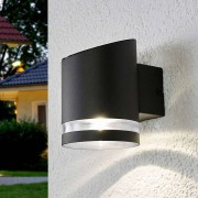 Lindby Outdoor wall lamp anthracite incl. LED on solar - Melinda