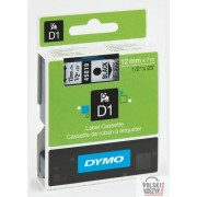 Dymo Taśma DYMO D1 12mm czarny /przeźroczysta 45010
