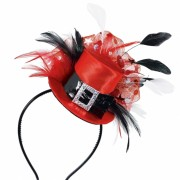 Coronita palarie rosie cu pene pentru petrecere, amscan 391306, 1 buc