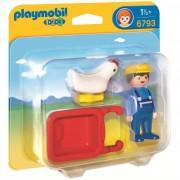 Playmobil contadino con cariola 6793