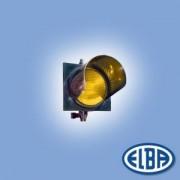 Közlekedési jelzőlámpa 1S2TL LED sárga, polikarbonát test, ellenző nélkül d=200mm IP56 Elba