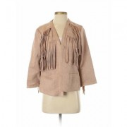 Chico's Jacket: Tan Jackets & Outerwear - Size Small