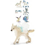 Schleich Bayala Set: Mohinya The Ice Elf (70469) And Six (6) Beautiful Ice Animals