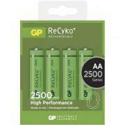 Set 4 acumulatori GP NiMH Recyko+, tip AA, 2500 mAh