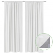 vidaXL 2 pcs White Energy-saving Blackout Curtains Double Layer 140 x 245 cm