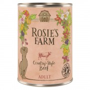 Икономична опаковка Rosie's Farm Adult 24 x 400 г - микс (пилешко и пуешко, агнешко, говеждо)