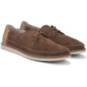 Clarks Brinton Craft Tobacco Suede Casual For Men(Brown)