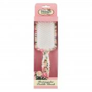The Vintage Cosmetic Company spazzola piatta rettangolare per capelli fantasia floreale