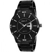Gen-Z GENZ-SN-GUN-0003 Black dial black stainless steel strap day and date Gift Watch for Men