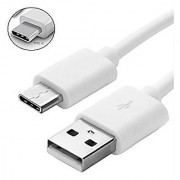 Sketchfab USB Type C Data Cable For Fast Charging Data Transfer For All Smartphones White