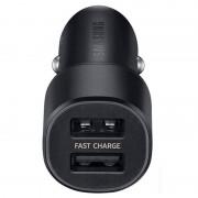 Samsung Dual Fast Car Charger EP-L1100 - зарядно за кола с 2xUSB и технология за бързо зареждане (черен)