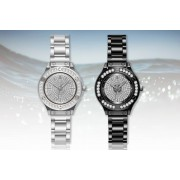 Solo Act Ltd £9.99 instead of £29 for a crystal women's watch in black or silver from Styled By - save 66%