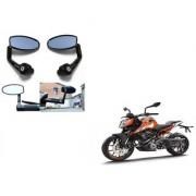 Kunjzone Premium Quality Motorycle Bar End Mirror Rear View Mirror Oval for KTM Duke 200