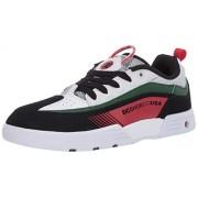 DC Legacy 98 Zapatillas de Skate para Hombre, Blanco/Negro/Verde, 10.5 US