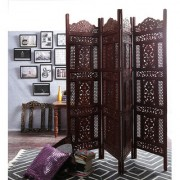 Shilpi Mango Wood Partition Screen Room Divider NSHC0290