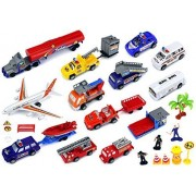 Super City Airport Childrens Kids Toy Vehicle Playset W/ Variety Of Vehicles