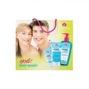 Dermacol AcneClear confezione regalo gel struccante 200 ml + crema gel idratante 50 ml + scrub viso 150 ml donna