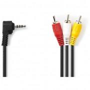 Nedis CVGP22400BK20 3.5mm Jack - 3x RCA kábel 2m - fekete