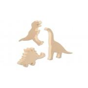 Eduplay Schnitz-Rohlinge Dinosaurier, 3er-Set