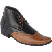 Austrich Mens Black High Ankel Formal Shoes