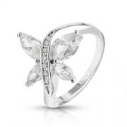 Pillangós gyűrű Swarovski kristállyal -6
