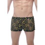 Petit-Q Bilace Short Boxer Brief Underwear Black/Yellow PQ150111