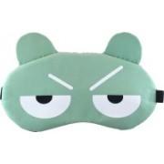Jenna 2Line_Green Cartoon Travel Sleeping Eye Cover Blindfold Eye Shade(Green)