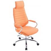 CLP Fauteuil de bureau Rako tissu, orange CLP orange, hauteur de l'assise