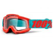 100% Accuri Gafas de Motocross Azul Naranja un tamaño