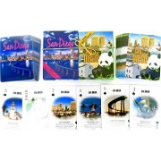 San Diego, Souvenir Playing Cards, Vacation Gift. Card Faces Feature Multiple Landmarks, Ousttanding