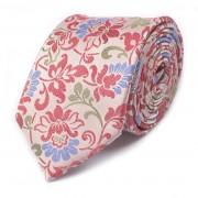 Tresanti Zijden Das Roze Met Bloemen Design One Size