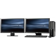 HP Pro 6300 SFF - Intel Pentium G840 - 4GB - 500GB HDD + Dual 2x 20'' Widescreen LCD