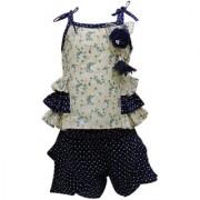 Tumble Blue Sleeveless Top And Shorts Set