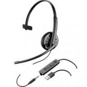 Слушалки Plantronics Blackwire Blackwire C315, микрофон, професионални, Hi-Fi аудио, USB, 3.5 мм жак, черни