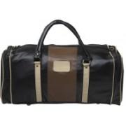 Pranjals House (Expandable) leatheratte black travel duffle cum gym bag Travel Duffel Bag(Black)