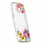 Husa Silicon Transparent Slim Flower Samsung Galaxy A5 2017