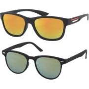 Fashno Wayfarer Sunglasses(Golden, Green)