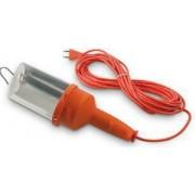 Fanton szerelő lámpa 5m-es vezetékkel polikarbonát búra kapcsolóval