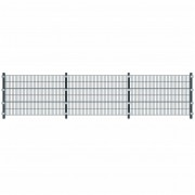 vidaXL 6m panel do plotu so stĺpmi 1,2m vysoký antracitový sivý