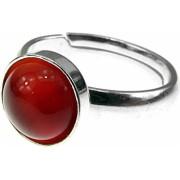 Inel argint reglabil cu carneol natural 8 MM GlamBazaar Reglabila cu Carneol Caramiziu tip inel reglabil de argint 925 cu pietre