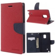 Korean Mercury Fancy Wallet Case for Samsung Galaxy Note Edge - Red