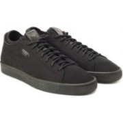 Puma Basket Classic Sock Lo Sneakers For Men(Black)