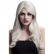 Smiffys Luxe blonde dames pruik golvend