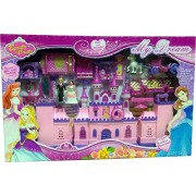 krivan Battery Operated My Dream Beauty Castle Play Set Music and Beautiful Lights, Barbie House, Doll House (Multicolor)