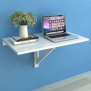 vidaXL Składany stolik na ścianę, biały, 100 x 60 cm