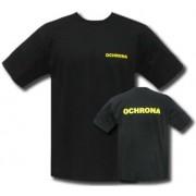Koszulka OCHRONA T-shirt - żółty napis