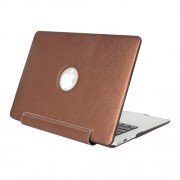 For Macbook Pro 15.4 inch Silk Texture Apple Laptop United PU Protective Case(Coffee)