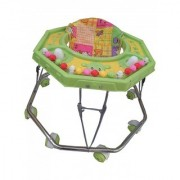 Baby walker with green colour(parrot color) steel pipe walker SE-W-08