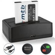 Batterie + Double Chargeur (USB) pour NB-11L NB-11LH / Canon IXUS 125 HS, 127 HS, 130, 132, 133, 135, 137, 140, 145, 147, 150, 155, 160, 165, 170, 175, 180, 185, 190, 240 HS, 245 HS, 265 HS, 275 HS, 285, 320 HS