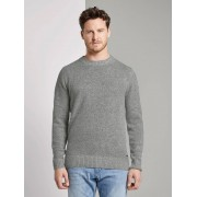 TOM TAILOR Gebreide trui met wol, Heren, Grey Heather Melange, L